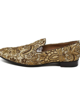 Fratelli Rossetti Gold Embroidery Loafers 1
