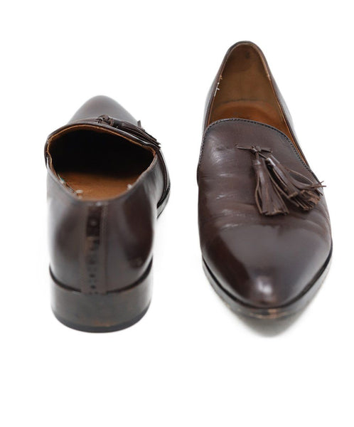 Frye Brown Leather Loafers Size 9