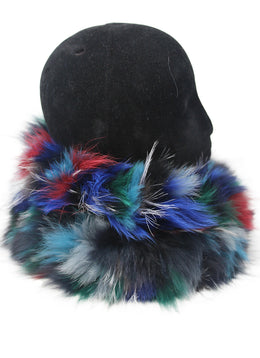 Multi Colored Fox Fur Scarf 2