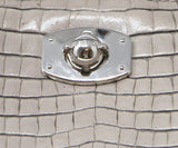 Furla Taupe Pressed Leather Satchel 9
