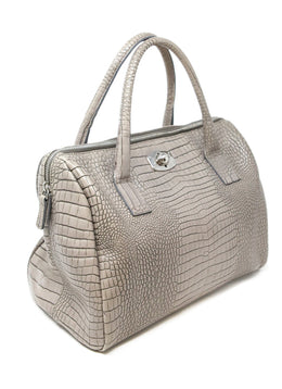 Furla Taupe Pressed Leather Satchel 2