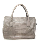 Furla Taupe Pressed Leather Satchel 3