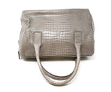 Furla Taupe Pressed Leather Satchel 5