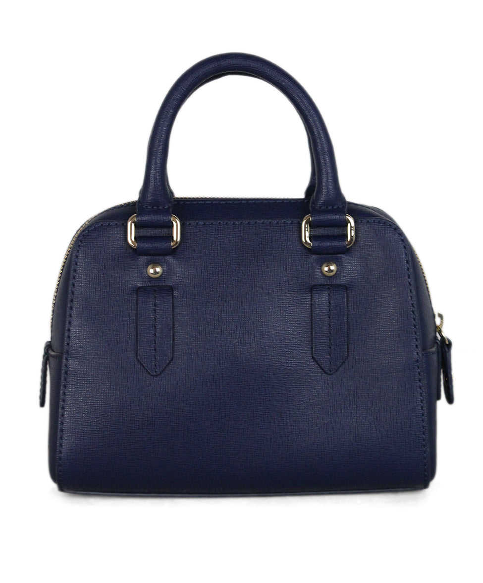 Furla blue leather satchel 3