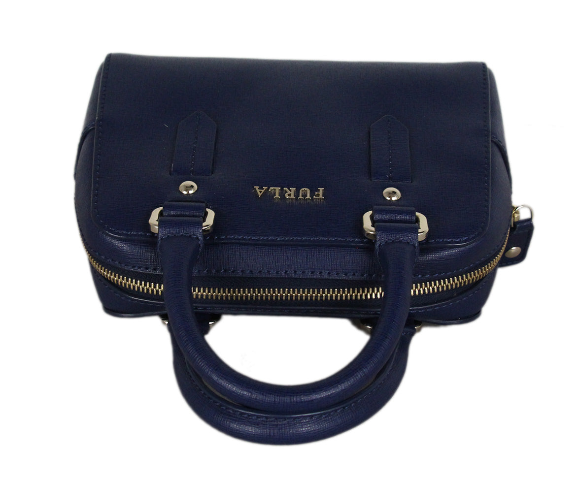 Furla blue leather satchel 5