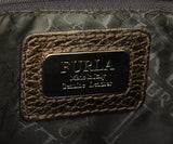Furla Metallic Bronze Monogram Shoulder Bag Handbag 7