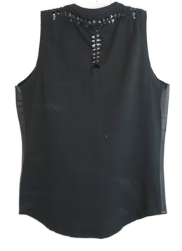 Fuzzi Black Leather Cotton Top 2