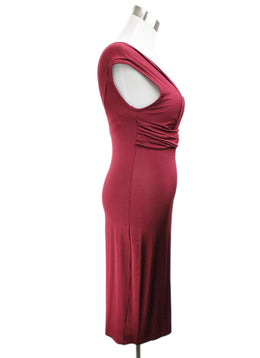 Galliano Burgundy Viscose Dress 2