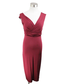 Galliano Burgundy Viscose Dress 1