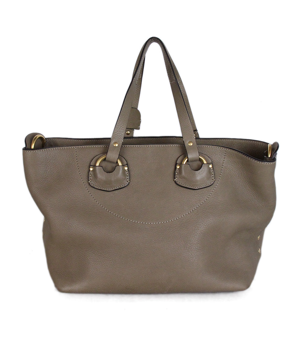 Ghurka Taupe Leather Satchel 3