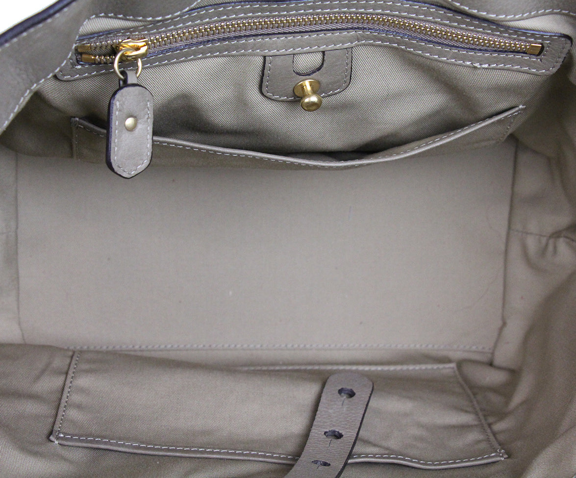 Ghurka Taupe Leather Satchel 5