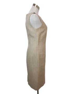 Giambattista Beige Linen Silk Dress 2