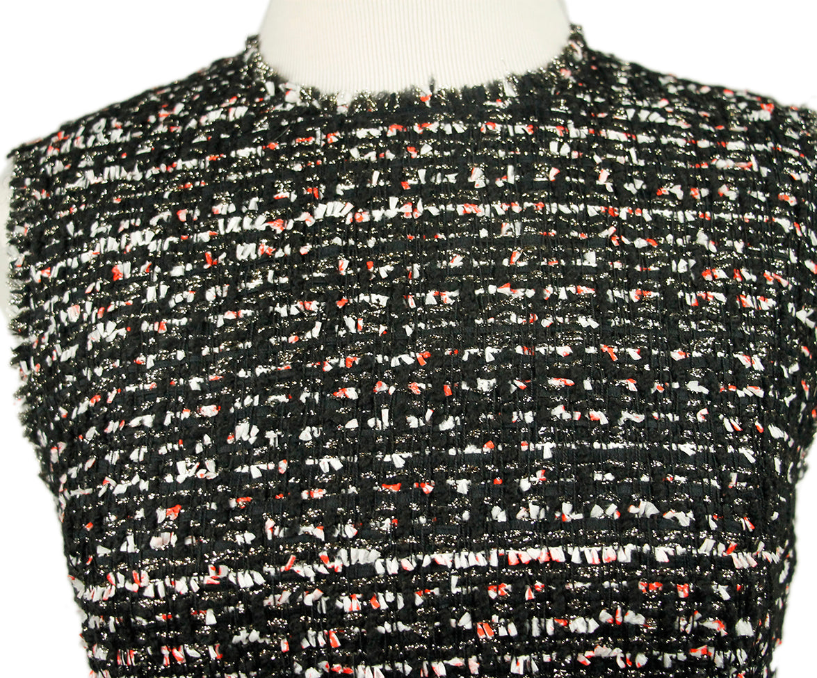 Giambattista Black White Tweed Silk Dress 6