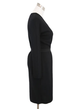 Giambattista Black Wool Cotton Dress 2