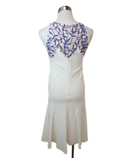 Giambattista Ivory Viscose Pink Periwinkle Lace Dress 3