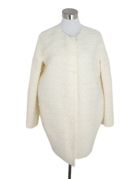 Giambattista White Cream Wool Nylon Coat 1