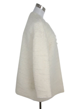 Giambattista White Cream Wool Nylon Coat 2
