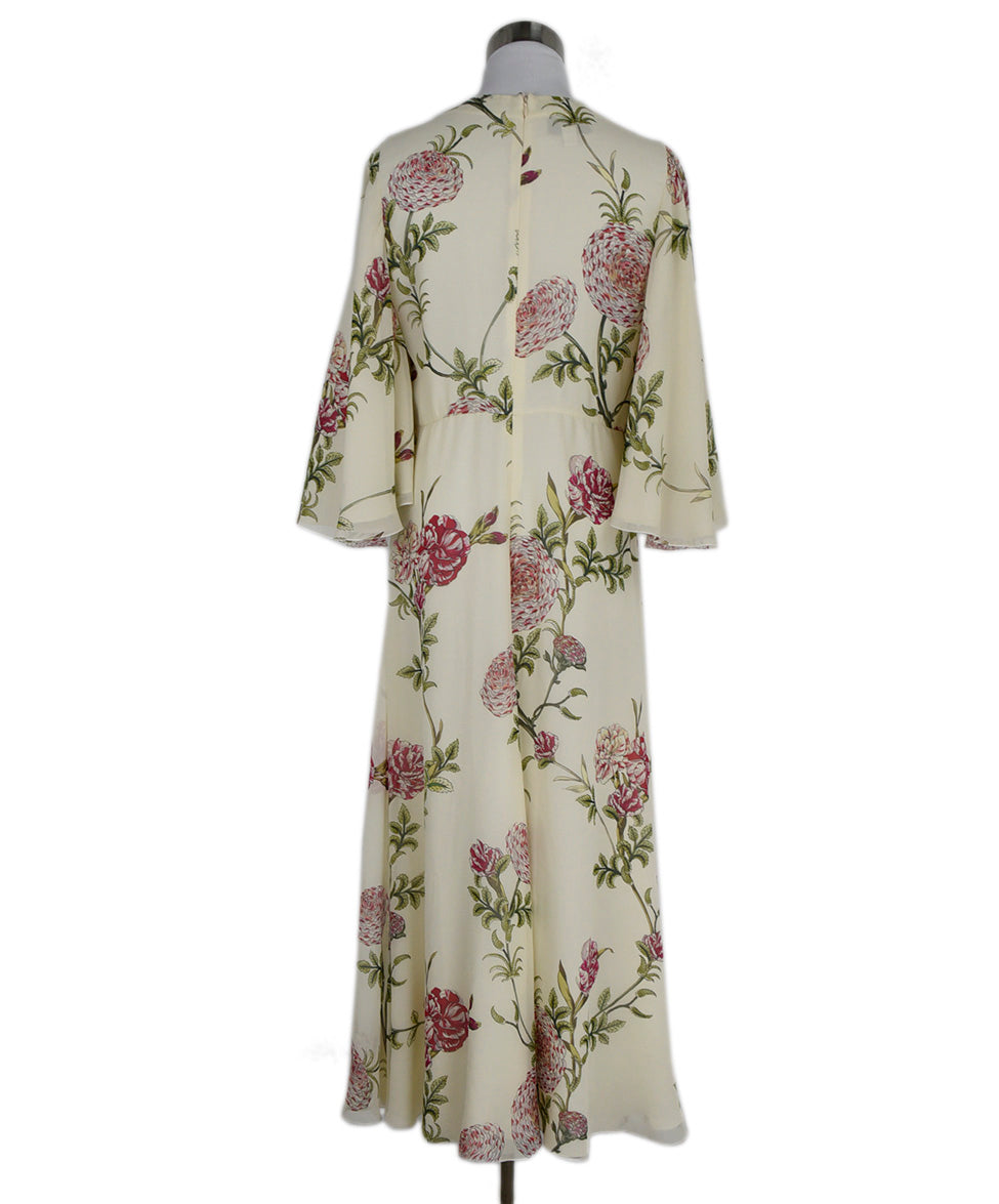 Giambattista Ivory Pink Green Floral Silk Dress 3