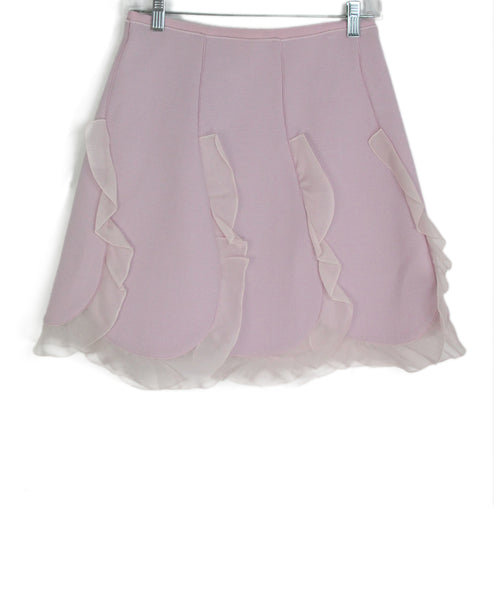 Giambattista pink silk skirt 1