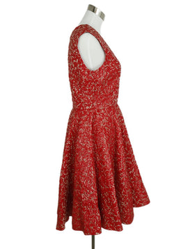Giambattista Valli Red Lurex Evening Dress 2