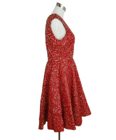 Giambattista Valli Red Lurex Evening Dress 1