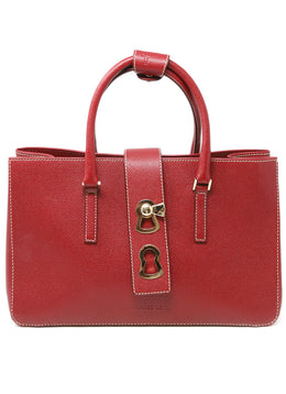 Gianfranco Lotti Red Leather Handbag 1