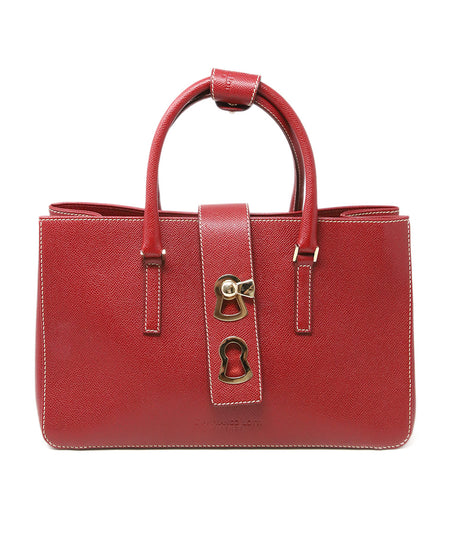 Dolce & Gabbana Red Green Brown Python Satchel