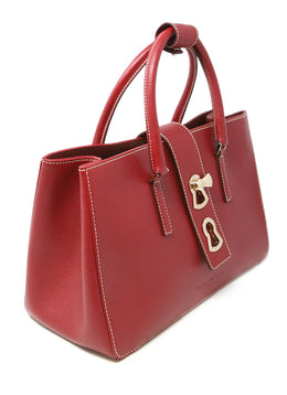 Gianfranco Lotti Red Leather Handbag 2