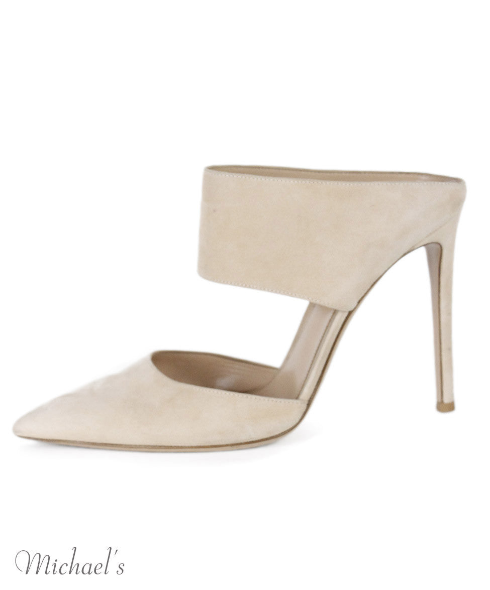 Gianvito Rossi Beige Suede Shoes Sz 39