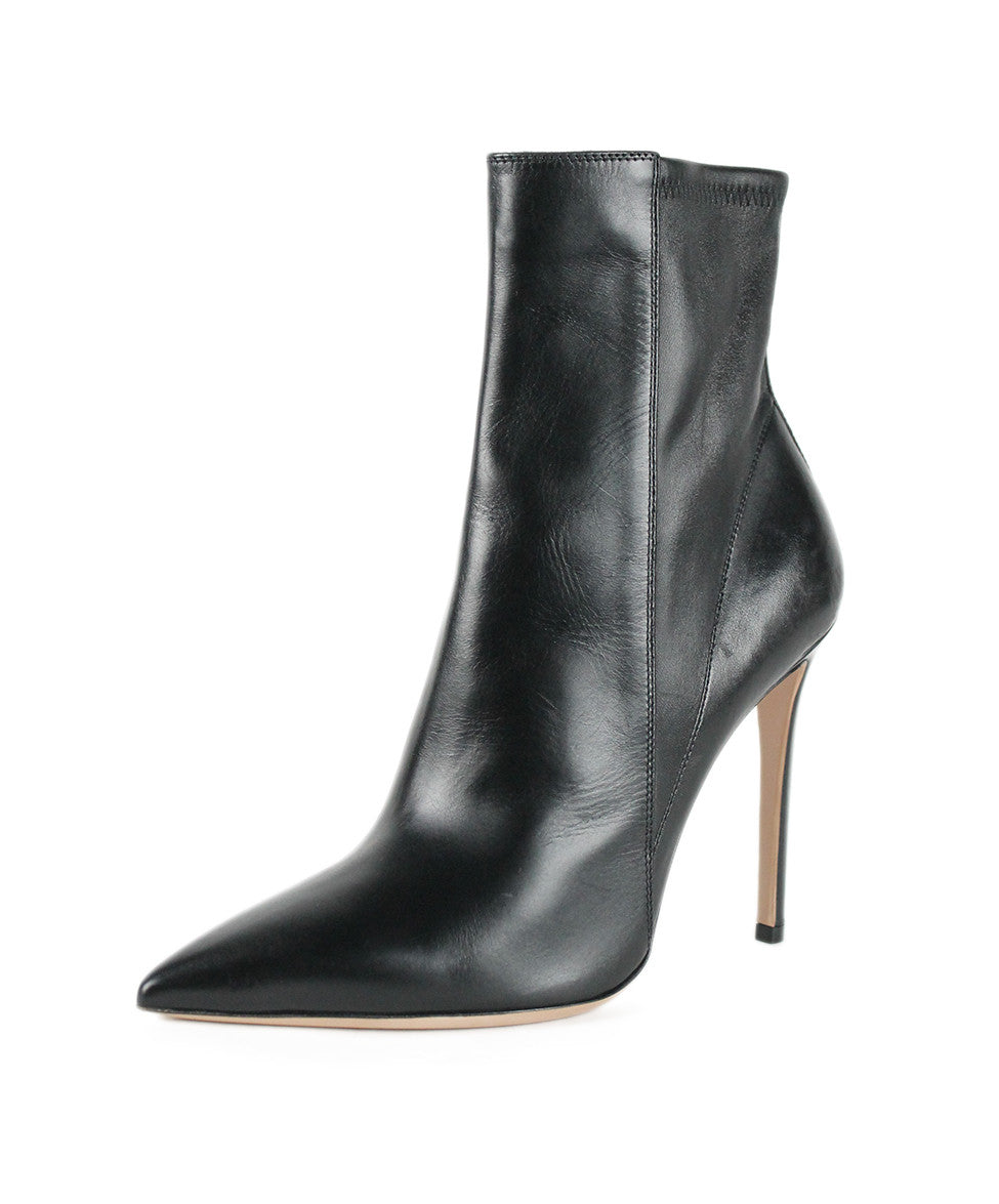 Gianvito Rossi Black Leather Boots Sz 9 - Michael's Consignment NYC  - 1