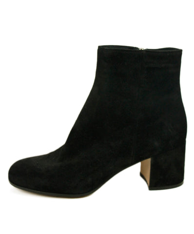 Gianvito Rossi Black Suede Booties Sz 37.5