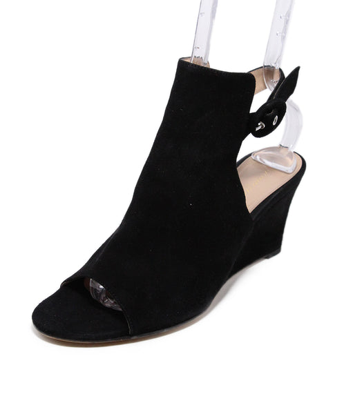 Gianvito Rossi Black suede wedges 1