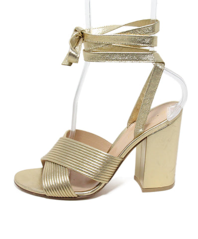 Gianvito Rossi Gold Leather Sandals 1