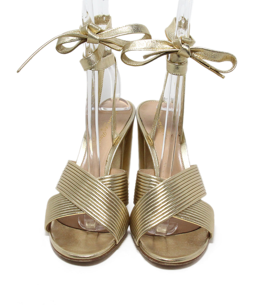 Gianvito Rossi Gold Leather Sandals 4