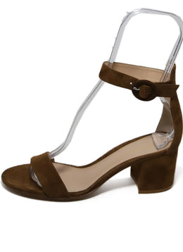 Gianvito Rossi Brown Suede Sandals 2