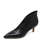 Gianvito Rossi Black Leather Kitten Heel 1