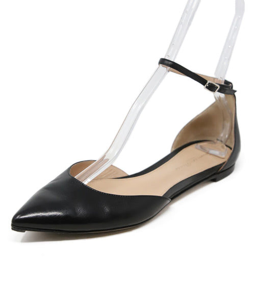 Gianvito Rossi Black Leather Ankle Strap Shoes 1