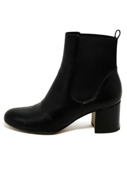 Gianvito Rossi Black Leather Elastic Trim Booties 2