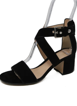 Gianvito Rossi Black Suede Strappy Sandals 1