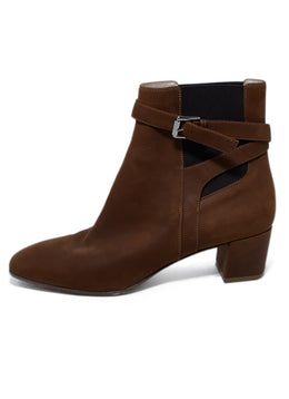 Gianvito Rossi Brown Cognac Suede Elastic Booties 2