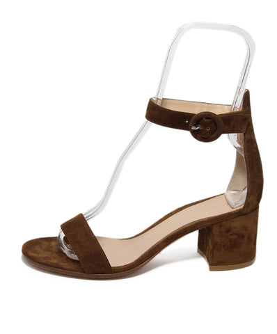 Gianvito Rossi brown suede sandals 1