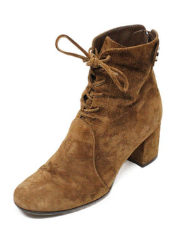 Gianvito Rossi Brown Suede Lace-Up Booties 1