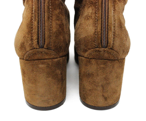 Gianvito Rossi Brown Suede Lace-Up Booties 7