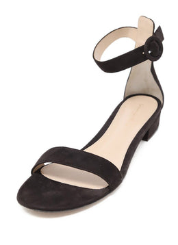 Gianvito Rossi Brown Suede Ankle Strap Sandals Sz 42