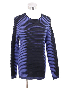 Giorgio Armani Black and Blue Cashmere Sweater 1