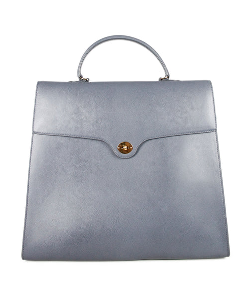 Giorgio Armani Grey Leather Handbag