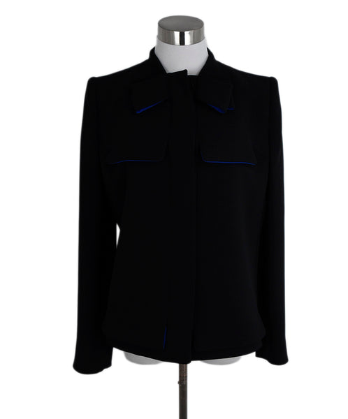 Giorgio Armani Black Silk Wool Jacket 1