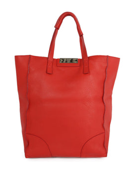 Giuseppe Zanotti Red Leather Tote Handbag 1