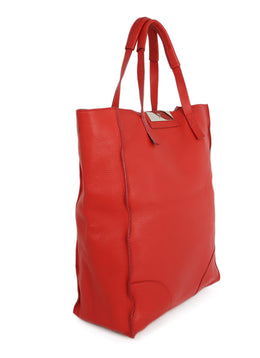 Giuseppe Zanotti Red Leather Tote Handbag 2