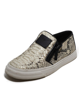Giuseppe Zanotti Snake Print Slip On Leather Sneakers 1